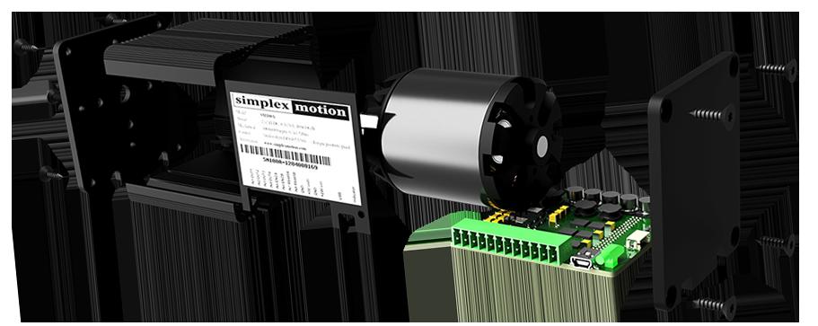 a servo motor in parts