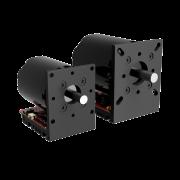 two servo motors different size