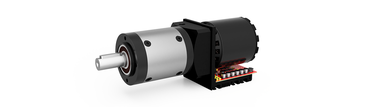 image of a servo motor with a gearbox